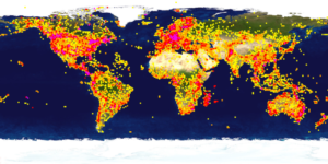 Global map of insect DNA sampling intensity